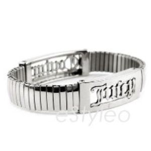 Juicy Couture Bracelet Stretch Stackable Silver